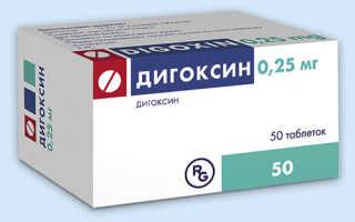 Дигоксин (Digoxin) инструкция по применению
