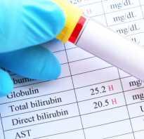 Содержание билирубина в крови после 40 лет